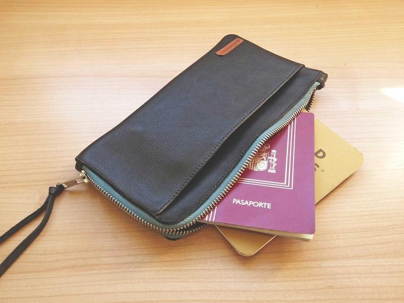 0329a5c3672c travel wallet leather- Passport holder - card holder - gift for him -gift  for her- travel accessories