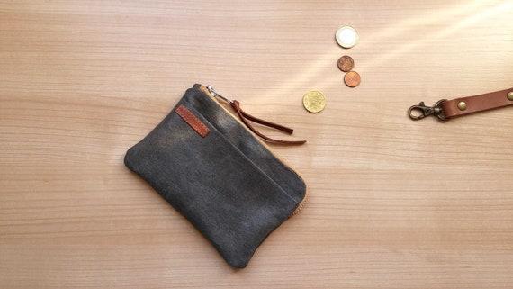 travel walletcard holdergift for himgift for hertravel accessories Beige waxed canvas passport holder