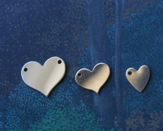 Gold heart blank 13mm stamping jewellery finding Filled gold