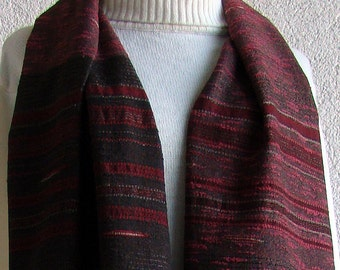 Handwoven Wrap / Shawl / Scarf - Wine and Gold