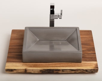 Concrete Vessel Sink, Concrete Sink, Vessel Sink, Bathroom Sink - 4 color options