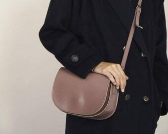 Taupe Minimal Satchel Bag