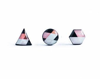 Geometric earrings studs, jewelry geometric, triangle studs stylish earrings hexagon