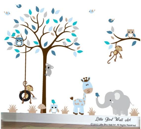 Kinderzimmer Wand Aufkleber Baum Kinder Wandtattoo Eulen Aufkleber