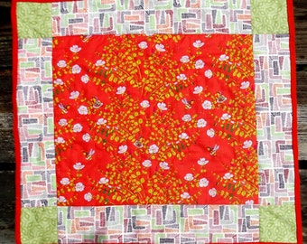 Heather Ross Briar Rose Patchwork Baby Quilt