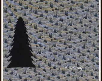 Blue Evergreen Quilt Pattern