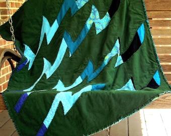 Ocean Waves Easy Beginner Quilt Pattern