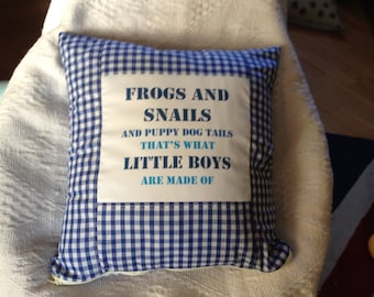 Frogs and Snails Little Boys Cushion