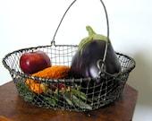 Vintage Wire Garden Basket - Circa 40s or Prior - at KonniesPlace