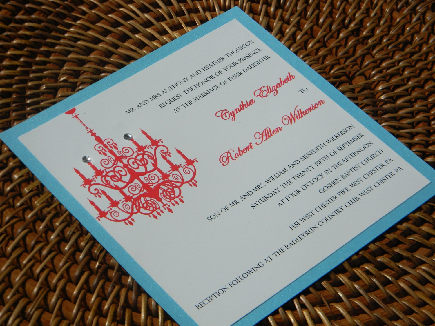 Chandelier Wedding Invitations: Chandelier Wedding Invitation With Chandelier And Crystals