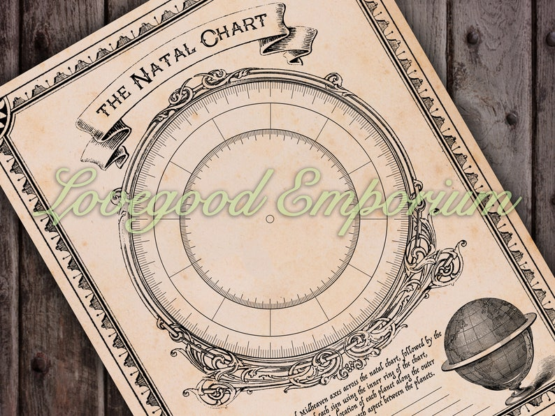 Blank Natal Chart Worksheet PDF Printable | Etsy