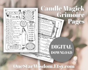 Candle Magick - Book of Shadows / Grimoire - Printable PDF