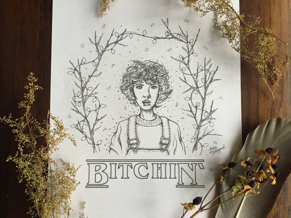 Eleven - Hand Drawn Art Print - Coloring Page - Wall Decor - Stranger  Things Fan Art - Digital Download - Clean Version Included