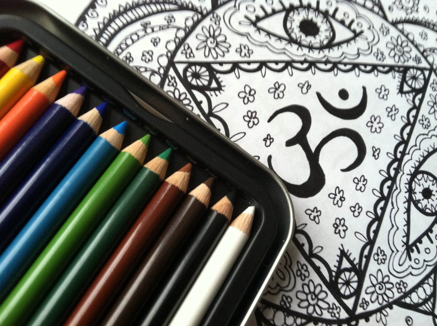 Chakra Mandala Workbook Coloring Pages Instant Download