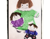 Full Size PDF Sewing Pattern Instant Download Easy A4 Printable to make Floppy Rag Dolls 2 Sizes Padded Baby Blankie First Rag Doll Toy