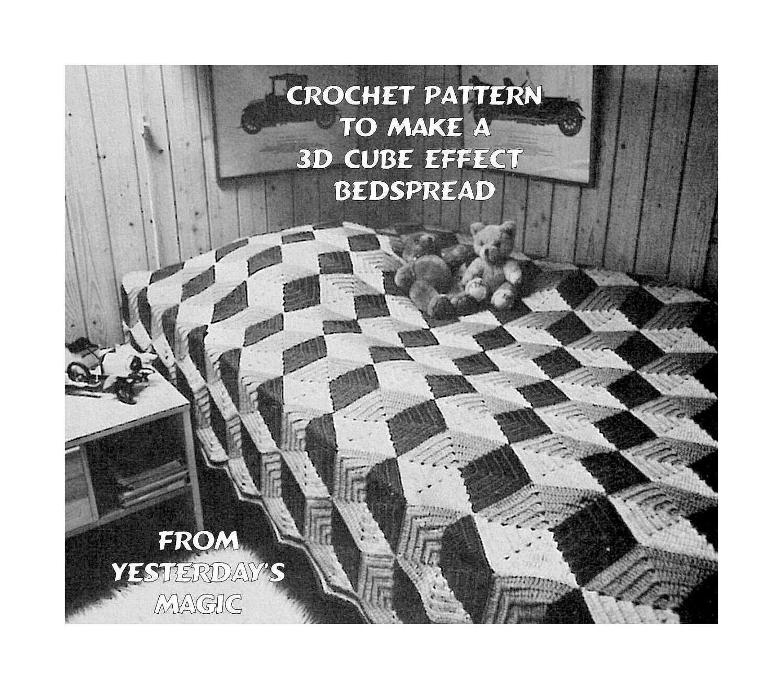 Instant Download Pdf Crochet Pattern To Make A 3d Geometric Etsy