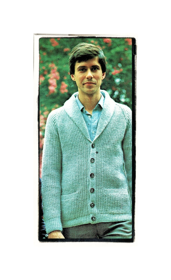 Instant Download Pdf Knitting Pattern To Make A Mens Rib Etsy