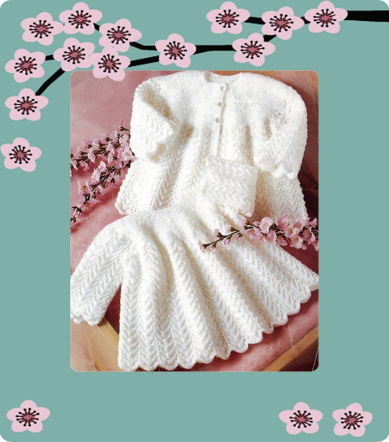 2faf95ba3 Instant Download PDF KNITTING PATTERN to make a Baby Girls