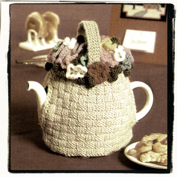 Instant Download PDF Easy Quick Beginners Knitting Pattern to make a Coffee or Tea Pot Cosy 4 Ply Yarn Grandmas Kitchen