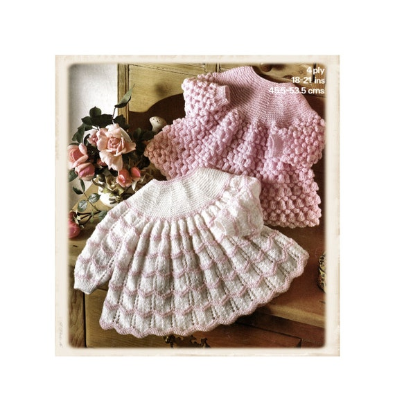 Baby Girl Frilly Smocked Romper /& All in one 4 Ply 3-18 mths Knitting Pattern