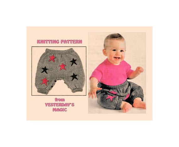 Instant Download Pdf Knitting Pattern To Make Baby Footless Etsy