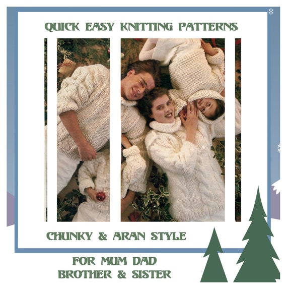 Instant Download Pdf Easy Quick Knitting Pattern To Make Etsy