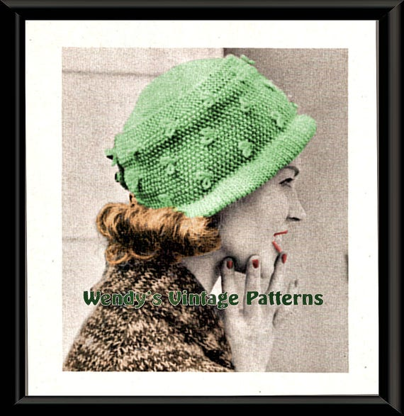 Instant Download Pdf Forties Fashion Knitting Pattern To Make Etsy