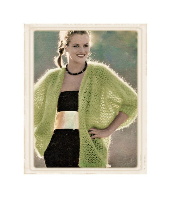 Instant Download Pdf Beginners Easy Knitting Pattern To Make A Etsy
