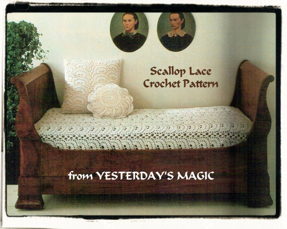 Instant Download PDF Crochet Pattern to make a Candlewick Effect Heirloom Bedspread Any Size or Cushion Cover Victorian Cottage