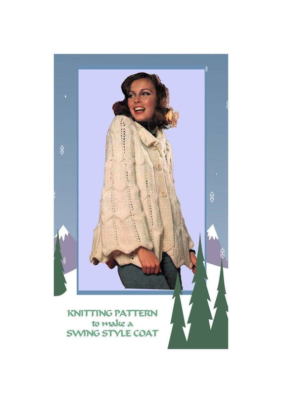 9871f80b9ba9 PDF Quick Easy Knitting Pattern Download to make a Womens