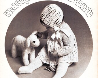 Instant Download PDF Easy Knitting Pattern to make a Spring Lamb Toy 7 Inch Tall Farm Animal Sheep Knitted Soft Baby Toy