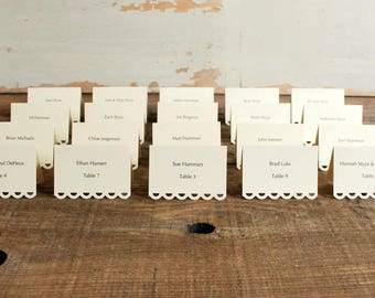 ivory printed place cards for wedding, shower, party set of 100 - tallulah