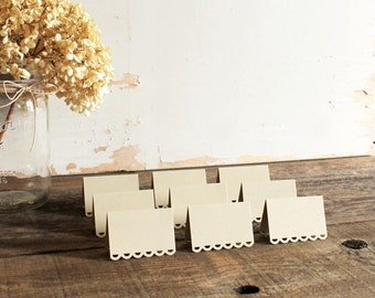 sand beige place cards for wedding, shower, party set of 100 - tallulah