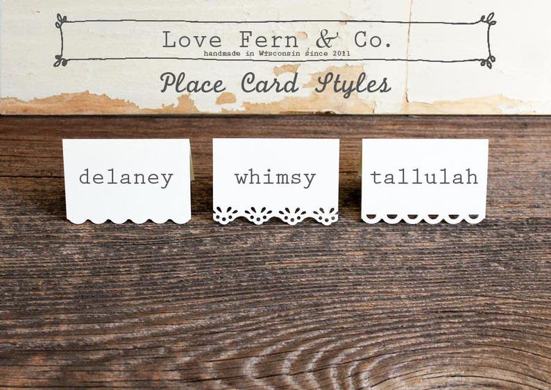 yellow printed place cards for wedding party set of 100 delaney shower