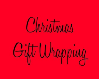 Add Christmas Gift Wrapping