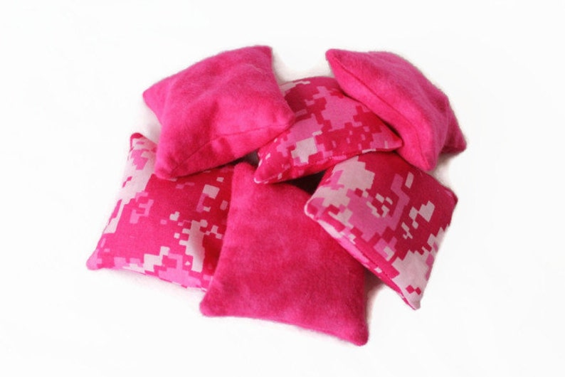 a85d6fb828e Hot Pink Camouflage Square Bean Bags Girls Party Favor Toss