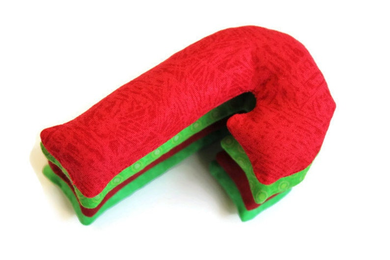 set of 4 US Shipping Included Lime Rice-filled Bean Bags Crimson Christmas Ornament Gift Red /& Green Candy Cane Shaped Bean Bags