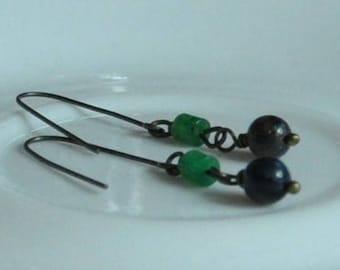 Blue Dangle earrings- Elegant Blue dangle earrings, Dangle earrings, Drop earrings, Blue Drop earrings