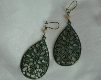 Patina Earrings Turquoise Earrings Boho Earrings Drop Earrings Dangle earrings Gift ideas Gift for Her Ladies earrings