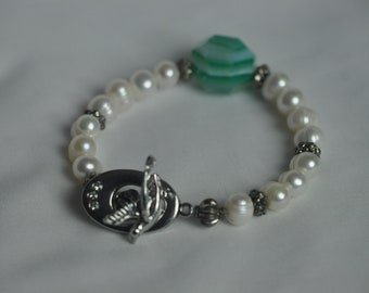 Pearl Bracelet,Wedding Bracelet,freshwater pearl bracelet. Pearl Handmade bracelet