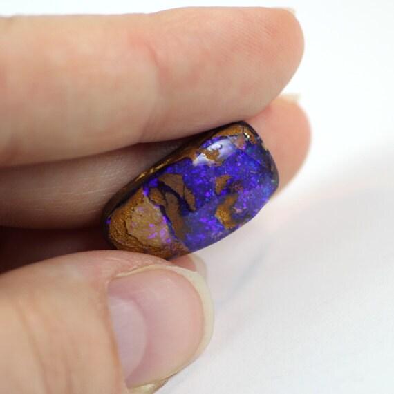 Boulder Opal 54.15 Cts Brown Purple Opal Australia Boulder Fields Semi Precious Gemstone