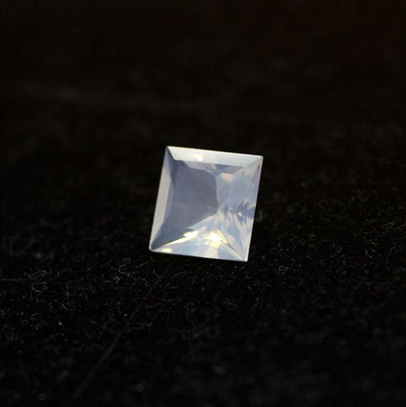 Oregon Opal Faceted Princess Cut Loose Gemstone Crystal Blue Opal Semi Precious Gemstone October Birthstone