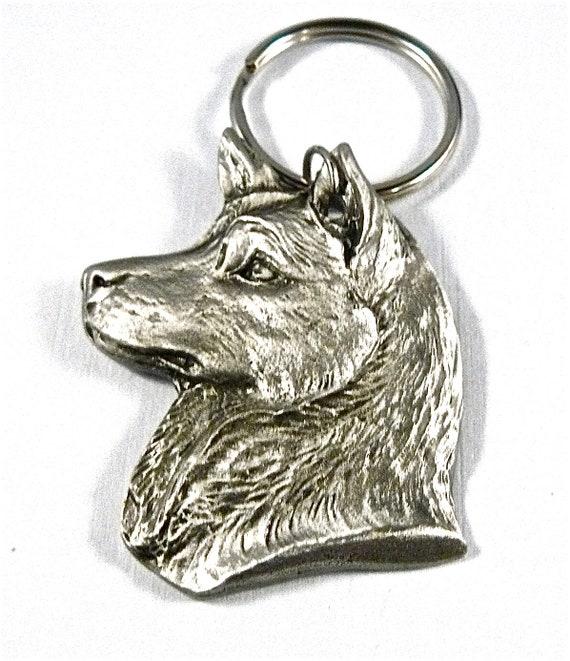 SAMOYED Dog Fine Pewter Keychain Key Chain Ring NEW