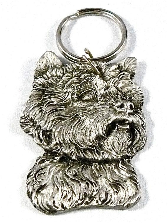 WESTIE West Highland Terrier Dog Terrier Fine Pewter Keychain Key Chain