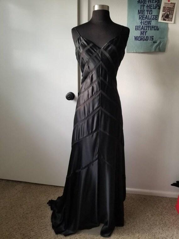 Beautiful black silk bias cut gown - image 10