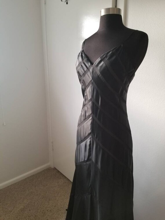 Beautiful black silk bias cut gown