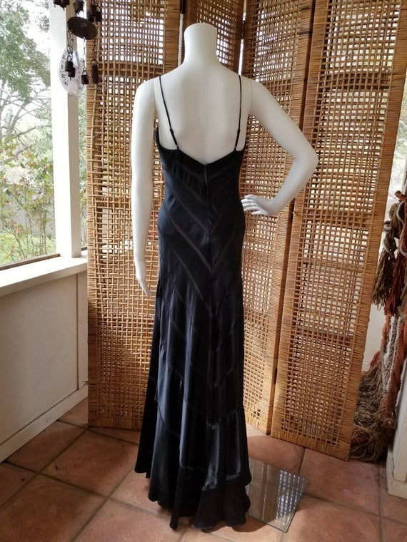 Beautiful black silk bias cut gown - image 8