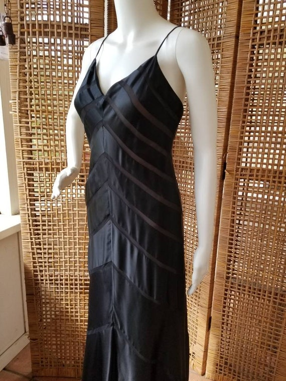 Beautiful black silk bias cut gown - image 4