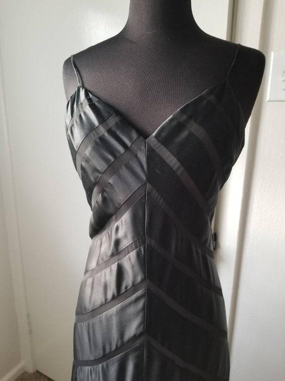 Beautiful black silk bias cut gown - image 2