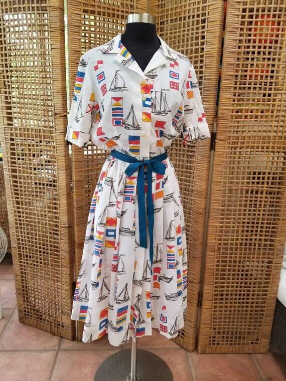 Nardis of Dallas nautical a line dress - image 2